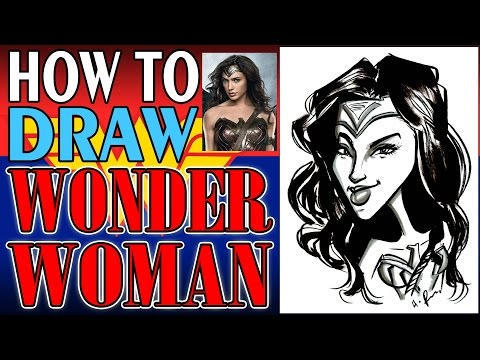 How To Draw A Quick Caricature Wonder Woman Gal Gadot