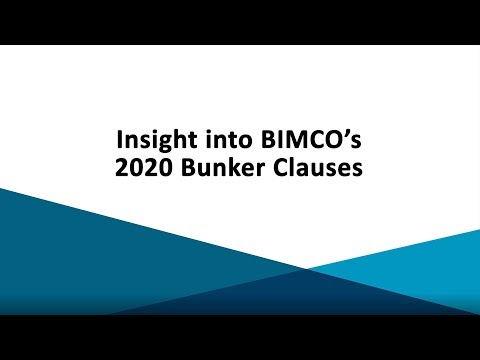 BIMCO's 2020 Bunker Clauses