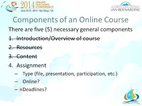 You Are Teaching a Course Online! Did You Do It Right? (OTC14)