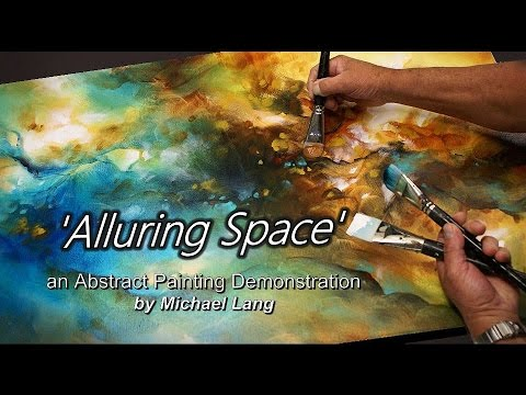 Blending & Shading an Abstract Painting using washes, Techni