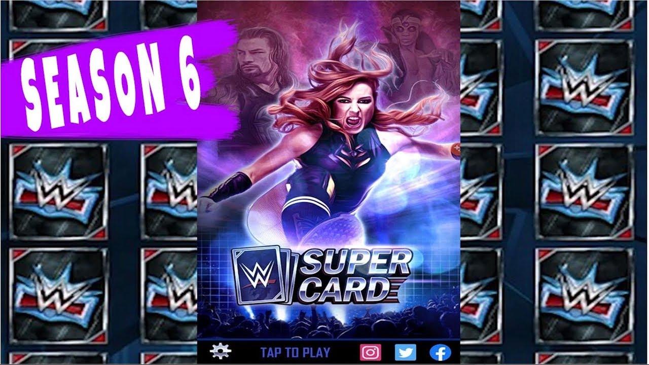 WWE SuperCard Season 6 is HERE + My free pack!!!!