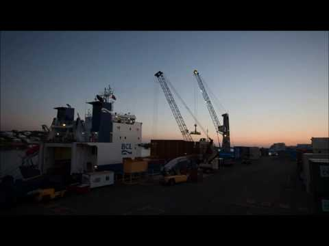 Time Lapse of SSL Working on Hamilton Docks