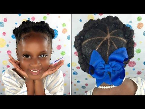 Crown/Halo Twist | Kids Natural Hair | Back To School Hairstyles | IAMAWOG
