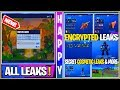*NEW* All Current Season 8 Leaks IN-GAME! Encrypted Cosmetics, Updates, Secret Skins & More!