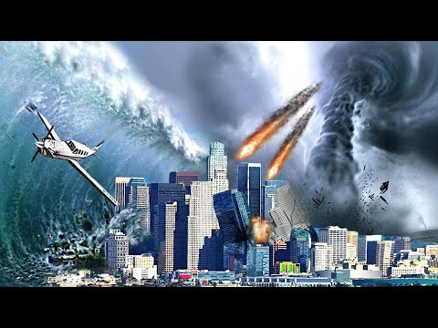 MEGA EARTHQUAKE TSUNAMI TORNADO & METEORS DESTROYS LOS SANTOS - GTA 5 END OF THE WORLD MOD