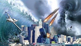 MEGA EARTHQUAKE TSUNAMI TORNADO & METEORS DESTROYS LOS SANTOS - GTA 5 END OF THE WORLD MOD