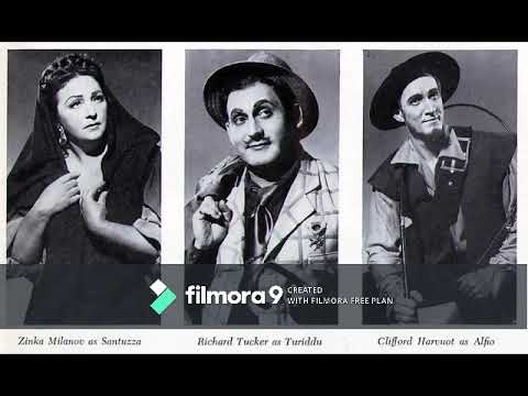 Cavalleria Rusticana - MetOpera - 3/3/51 (Milanov, Tucker, Harvuot, Lipton, Madiera - Erede)
