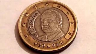 Rare 1 Euro Coin Spain 2002 Macro Video Numismatic Centavo Coins Рідкісні монети