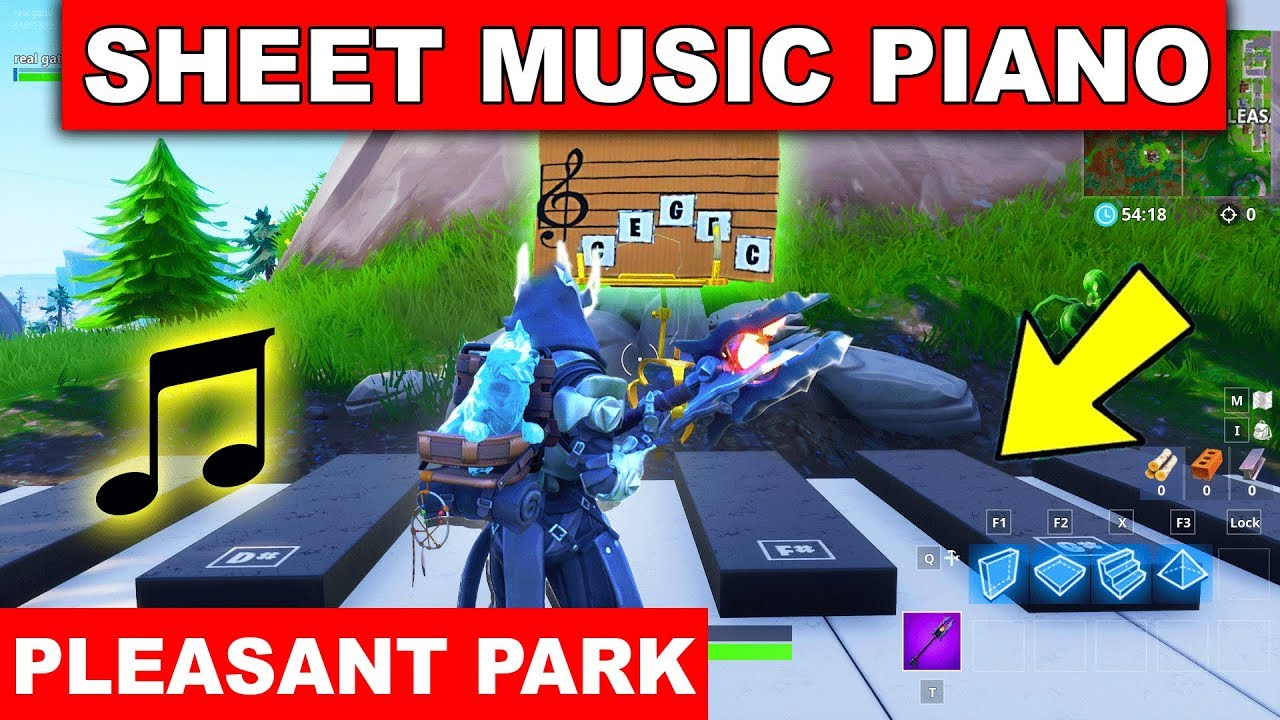 Play The Sheet Music On The Pianos Near Pleasant Park Location Week 2 Challenge Fortnite Season 7