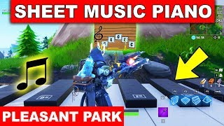 """Play the Sheet Music on the Pianos near Pleasant Park"" LOCATION WEEK 2 CHALLENGE Fortnite Season 7"