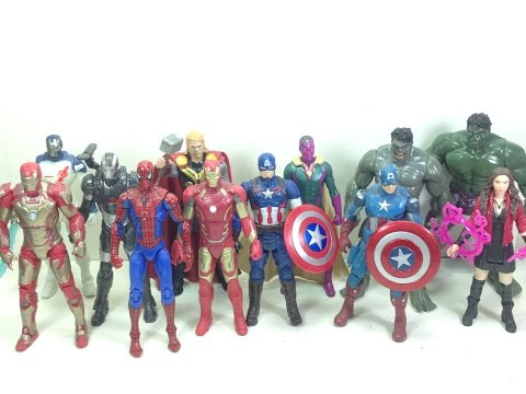 Marvel Avengers Age of Ultron All Star Figures Unboxing Toy Review