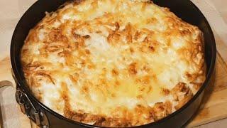 Быстрый Пирог с мясом и сыром из Лаваша в Духовке Рецепт Вкусного Мясного пирога
