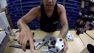 How to replace shafts seal (steel seal) on a lowrider hydraulic pump.