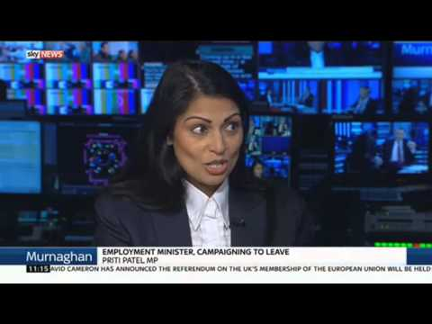 Priti Patel MP On EU Referendum Leave Campaign