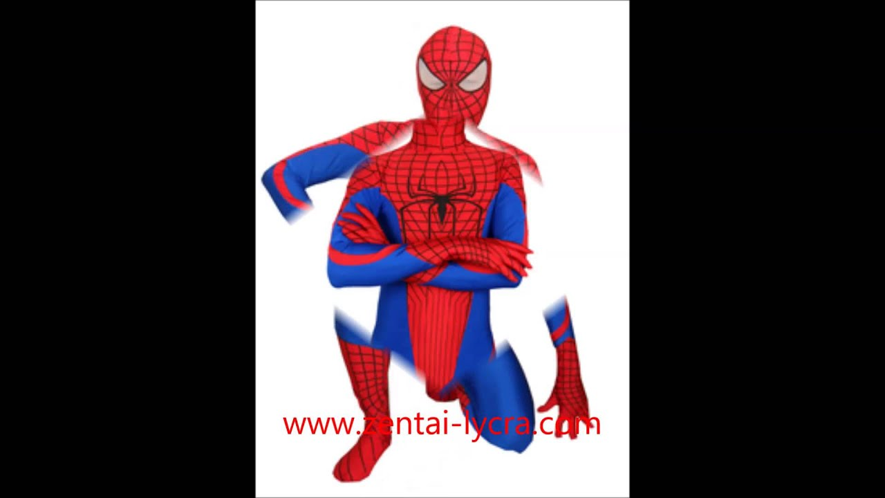 The Amazing Spider Man Spandex Superhero Costume & The Amazing Spider Man Spandex Superhero Costume - YouTube