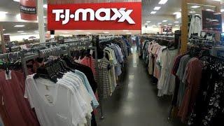 En la tienda de TJ MAXX/compras en la TJ MAXX