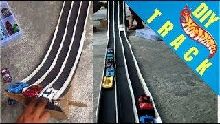 Tutorial Membuat Lintasan / Track Hotwheels Dari Kardus Bekas Yang Mudah