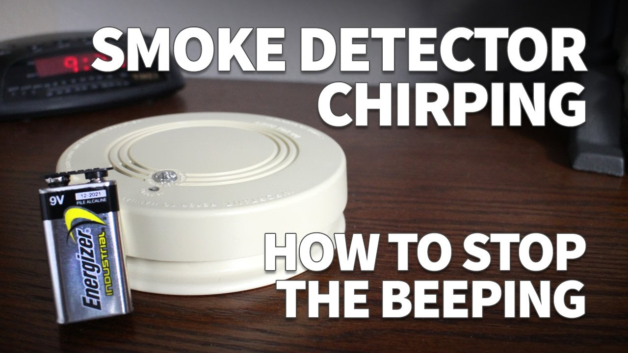 Smoke Detector Chirping How To Stop The Beeping And Change Battery In A Hard Wired You