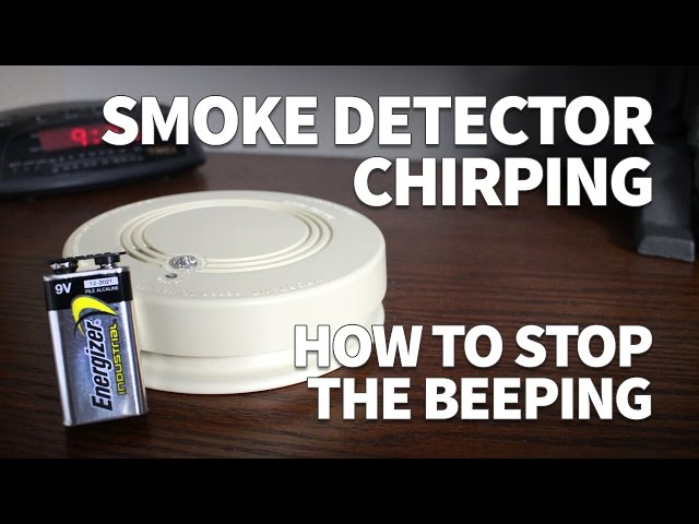 Smoke Detector Chirping How To Stop The Beeping And Change Battery In A Hard Wired Smoke Detector Youtube