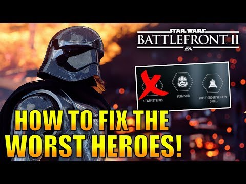 How The Worst Heroes In Battlefront 2 Can Be Fixed! - Star Wars Battlefront 2 thumbnail