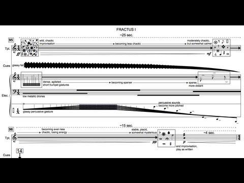 Fractus I for Trumpet in C and SuperCollider (Audio & Score)