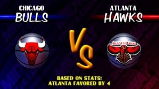 NBA Hangtime ARCADE Playthrough - Chicago Bulls vs Atlanta Hawks