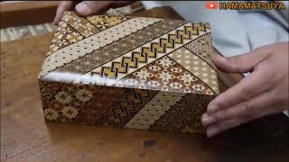 Amazing Ancient Technology of the Beautiful Japanese Hakone Marquetry - Woodworking Skillful