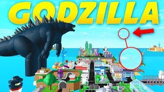 FIGHTING GODZILLA IN SUPERHERO CITY! ROBLOX