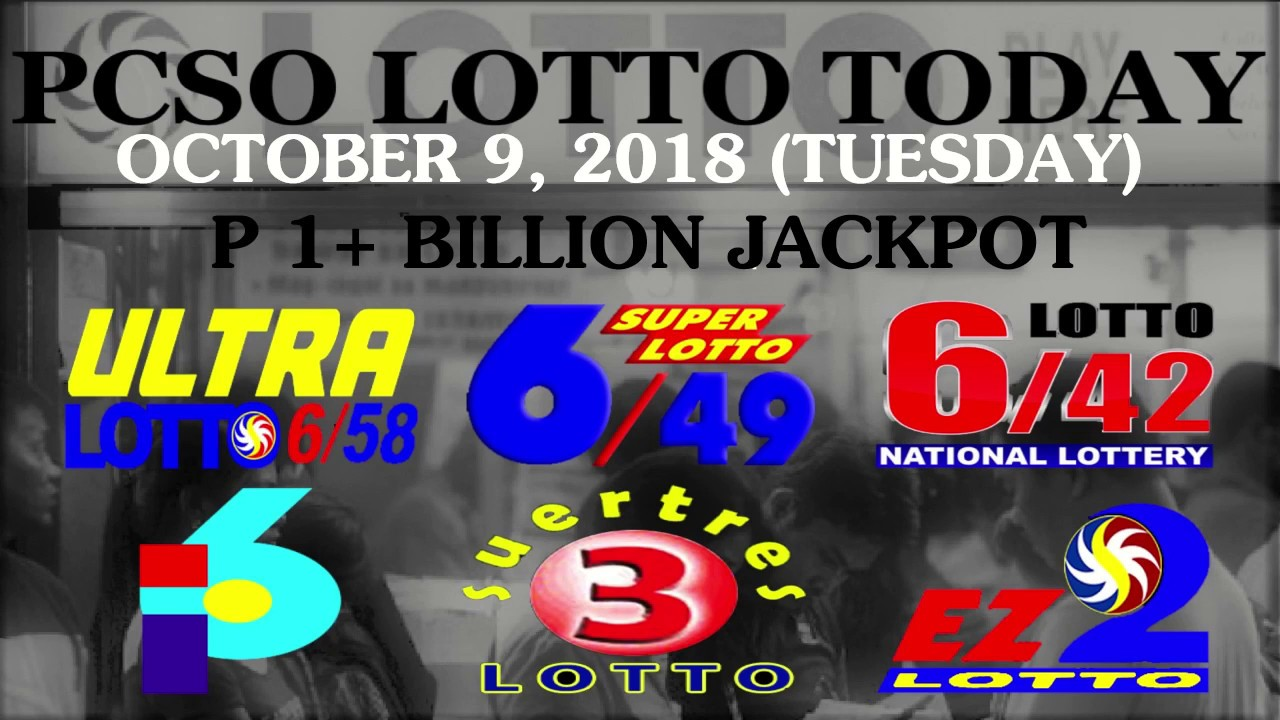 Lotto Results Today, October 9, 2018 (Tuesday) - PCSO LOTTO TODAY - YouTube