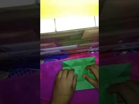 How to make paper box . No glue