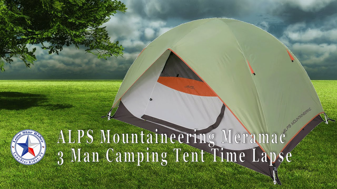 ALPS Mountaineering Meramac 3 Man C&ing Tent Time-Lapse & ALPS Mountaineering Meramac 3 Man Camping Tent Time-Lapse - YouTube
