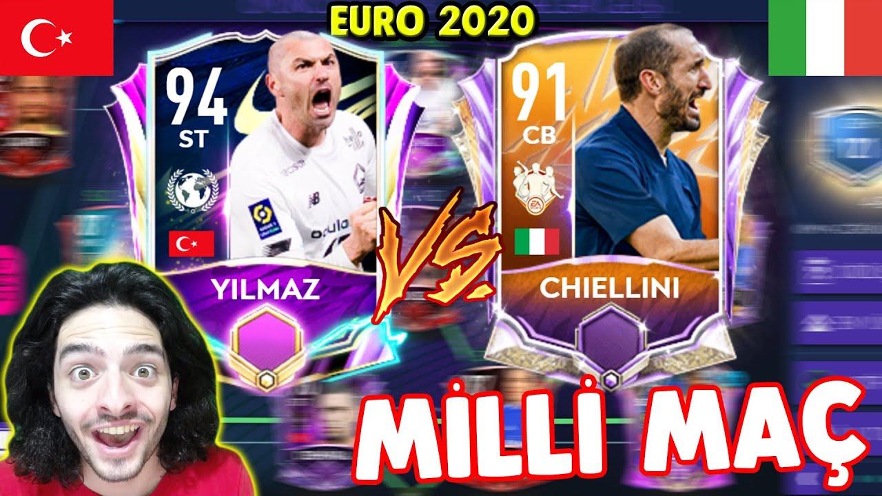 GOL YAĞMURU !! TÜRKİYE Vs İTALYA EURO 2020 MİLLİ MAÇ (FIFA Mobile)