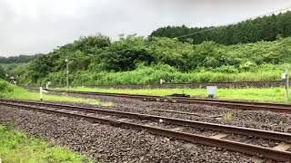 【4K】ななつ星in九州    大畑駅到着 DE10重連