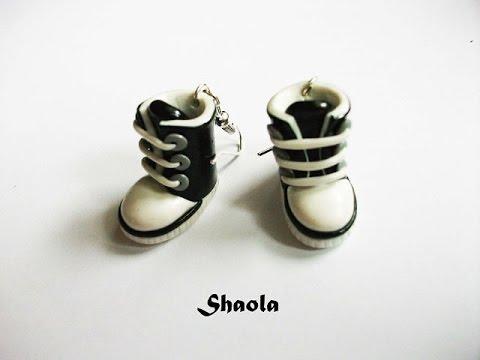 как слепить ботиночки из полимерной глины
