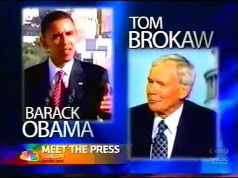 Barack Obama | Meet The Press | NBC | Promo | 2008
