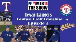 MLB 13 the Show- Texas Rangers Fantasy Draft Franchise Episode 4