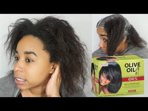 It's Relaxer Day! Relax my 4c hair with me! ORS No Lye Hair Relaxer 2018