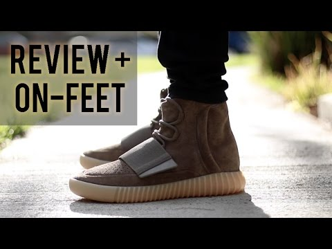 b1bf60ca603 Adidas Yeezy Boost 750  Chocolate  REVIEW + ON-FEET - YouTube