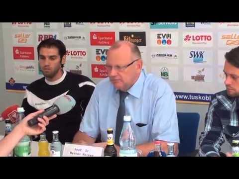 Pressekonferenz von TuS Koblenz zum Trainerwechsel und zu Neckarelz