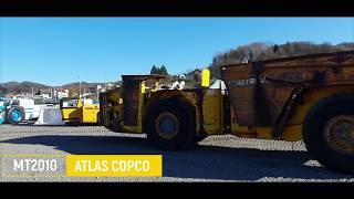 Wóz dostawczy wywrotka Atlas Copco MT 2010 Minetruck Underground hauler Epiroc MT2010 Tunelowa