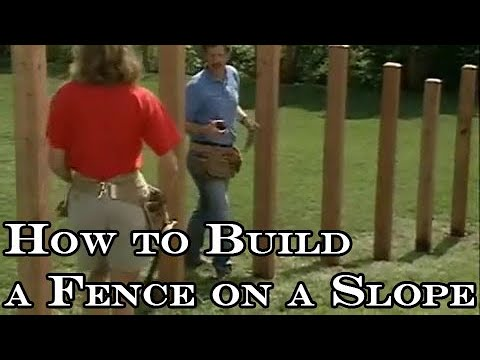 How To Build A Wood Fence On Slope Youtube
