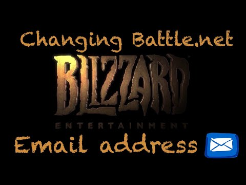 How to change your Battle net email adress