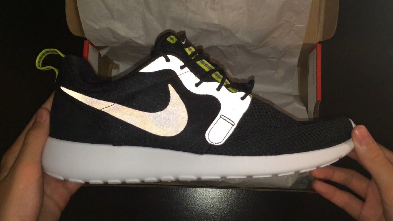 uk availability 1f821 6c047 Nike Roshe One Hyperfuse - Black Anthracite Venom Green - Unboxing - YouTube