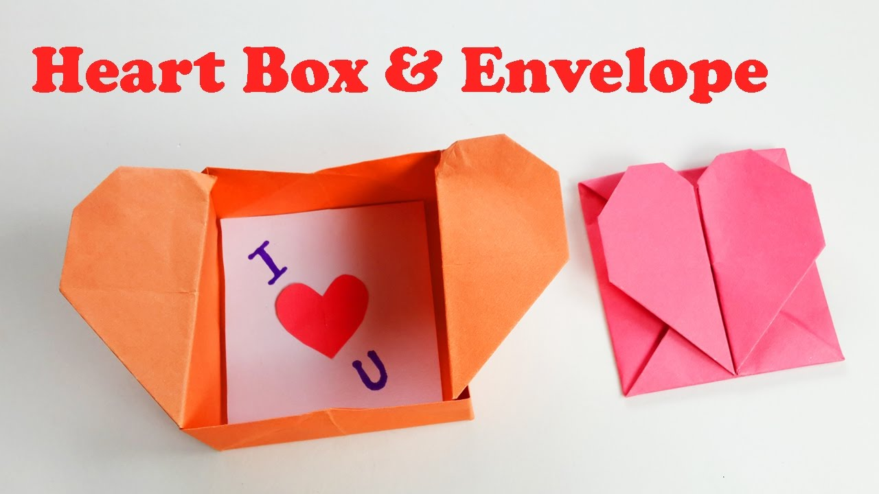 How To Make An Origami Heart Box Envelope Pop Up Heart Diy Crafts