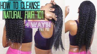 Cleansing 101 for Natural Curly Hair (PrePoo, Clarifying, Bentonite Clay, ACV , Cowashing, Etc.!)