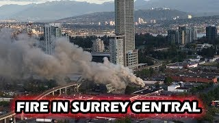 Fire near Surrey Central caught on video
