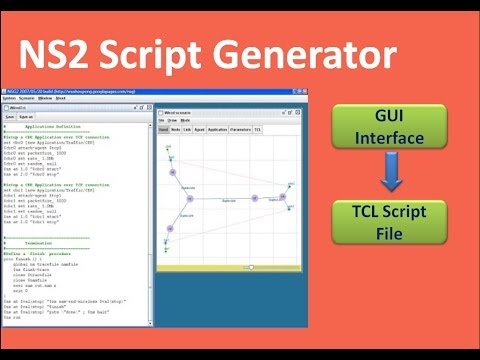 How to generate NS2 tcl script automatically without Writing tcl code
