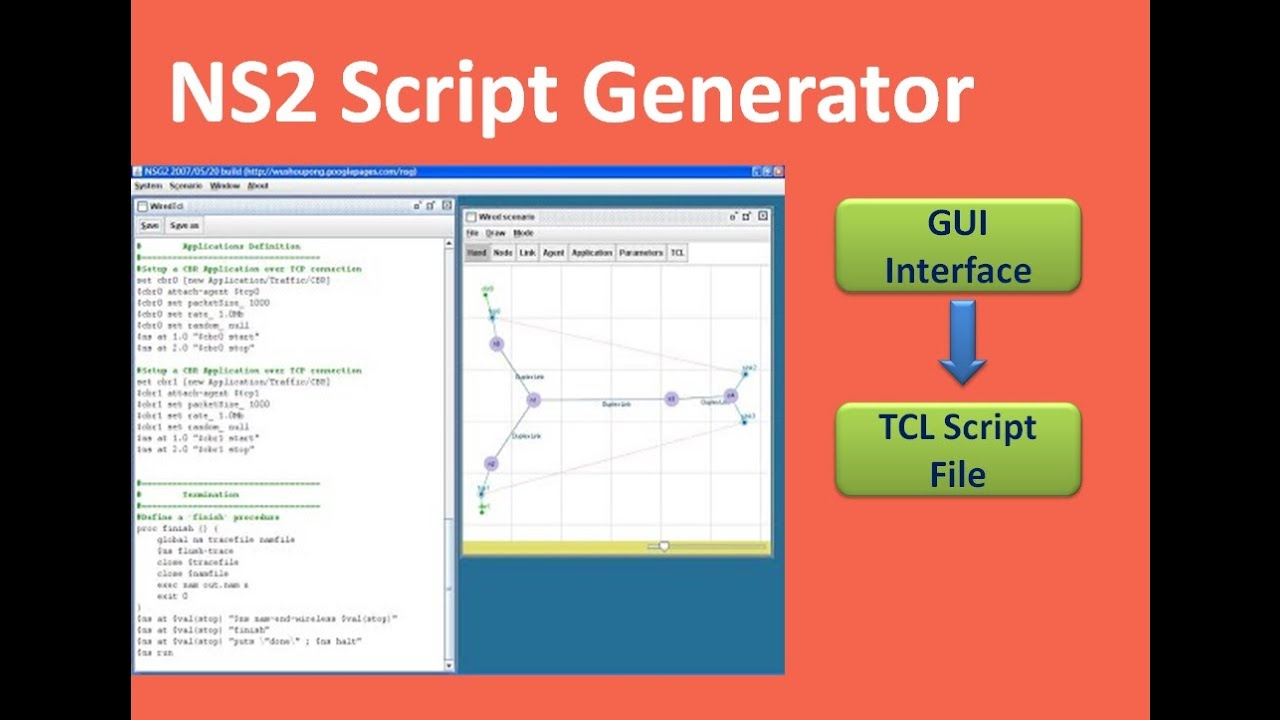 How to generate NS19 tcl script automatically without Writing tcl code