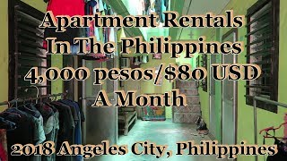 $80 USD/4,000 Peso A Month Apartment Rentals In The Philippines : Angeles City, Philippines