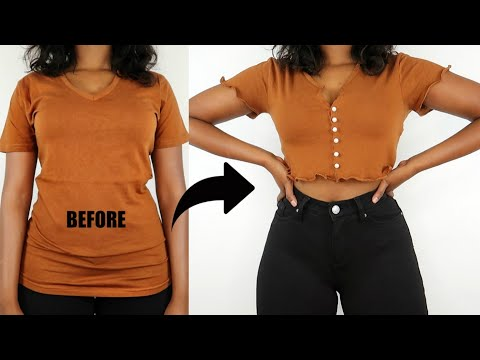Easy Ways To Upgrade Your Old Boring T-Shirts | T-Shirt Transformation